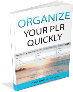 organize your plr quickly opt in